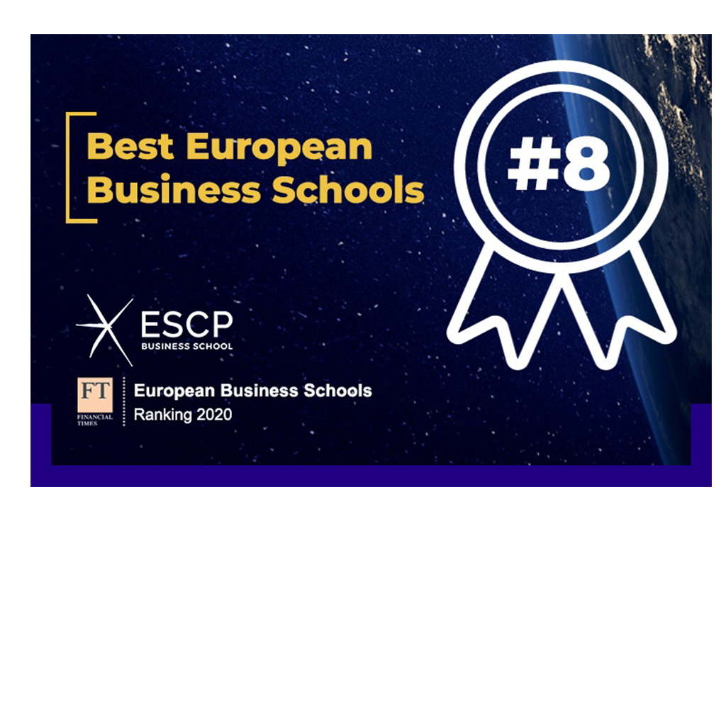 A ESCP Business School foi classificada em 8º no relatório do Financial Times European Business Schools.
